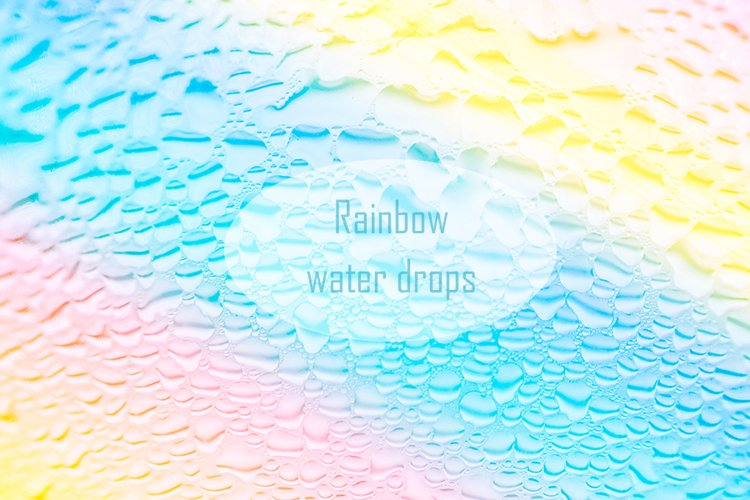 Rainbow water drops on glass example image 1