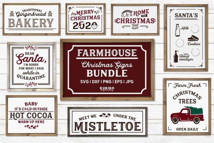 Farmhouse Christmas Signs SVG Bundle - Pandemic Christmas