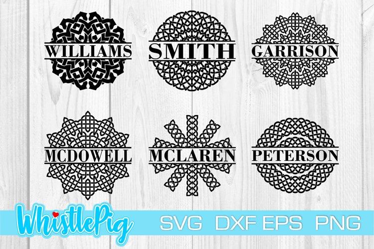 Download Family Monogram Svg Bundle Celtic Knot Split Monogram Svg 1172867 Cut Files Design Bundles