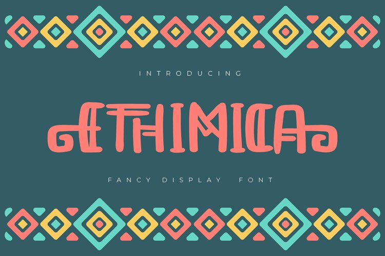 Ethimica | Fancy Display Font example image 1