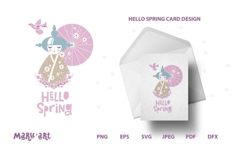 Hello Spring SVG, PNG Files, Sign SVG