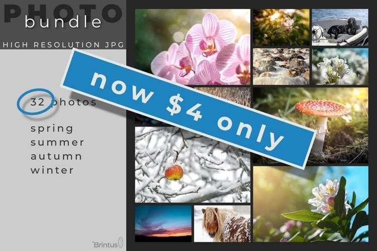 32 Photos 4 Seasons Complete Bundle example image 1