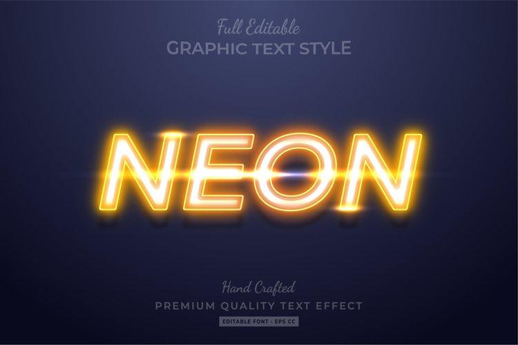 Yellow Neon Editable 3D Text Style Effect Premium