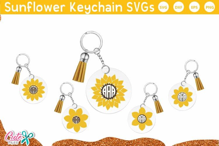 Sunflower frames keychain and keyring SVG file for crafter