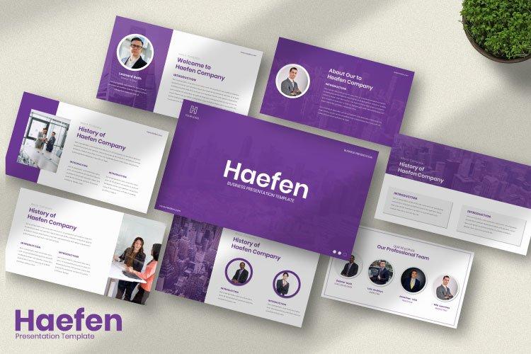Haefen Busines Powerpoint Template example image 1