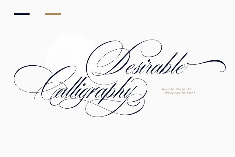 Desirable calligraphy example image 1