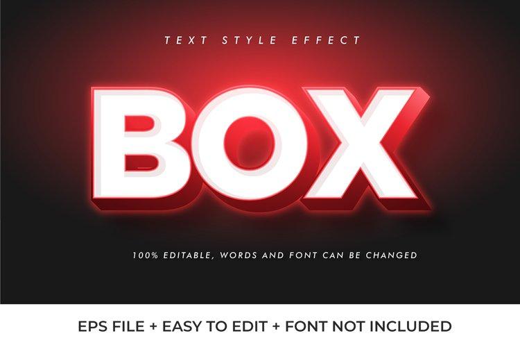 BOX Vector Text Effect