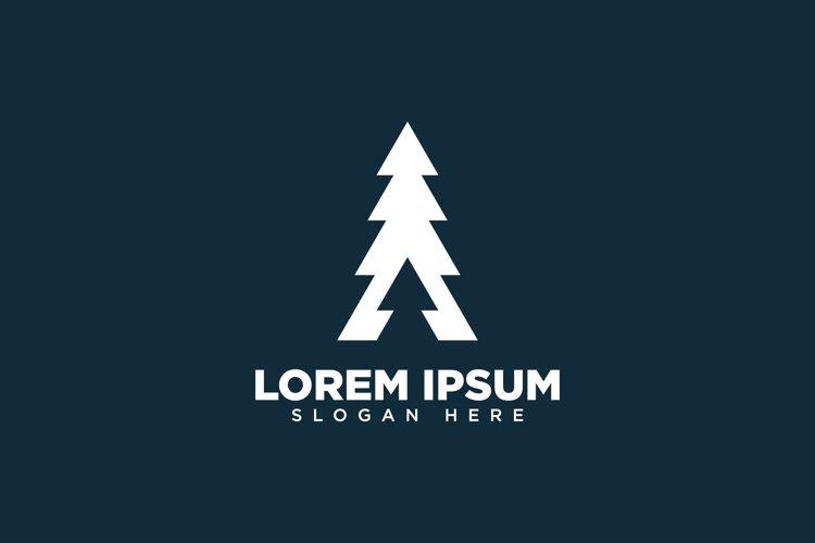 Monoline Forest Mountain Logo example image 1