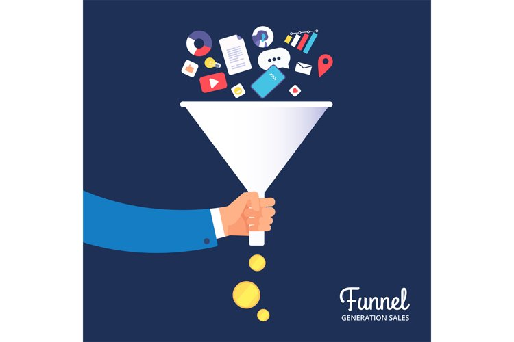 Sale funnel. Lead management optimisation and generation. Le example image 1