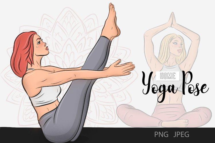 Yoga Fitness Home Poses Digital Art