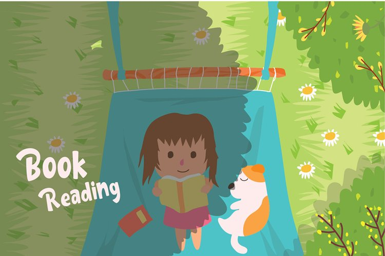 Reading Book - Vector Illustration example image 1