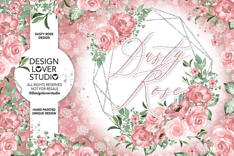 Dusty Rose geometric design example image 1