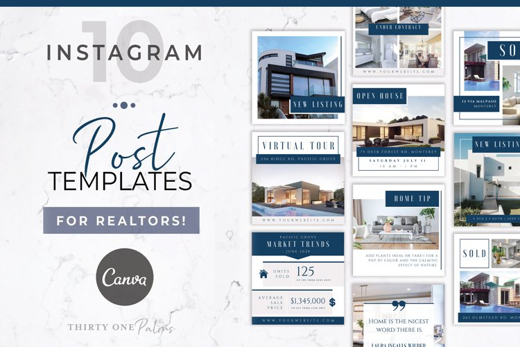 Real Estate Instagram Post Template | Canva example image 1