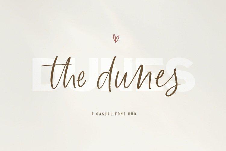 The Dunes - A Sans/Script Font Duo example image 1