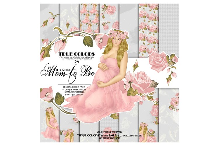 Baby Girl Paper Pack Pregnant Paper Pack Pregnancy example image 1