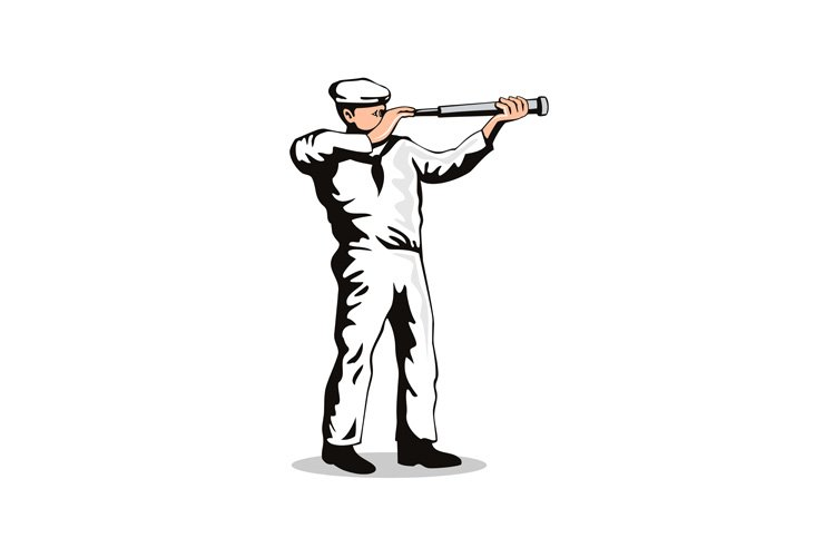 Sailorman with Telescope example image 1
