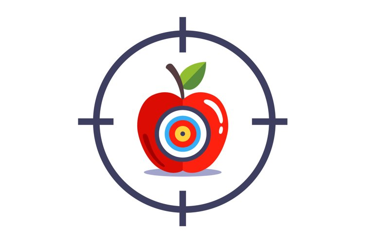 Aiming to shoot the bullseye and hit exactly on target example image 1