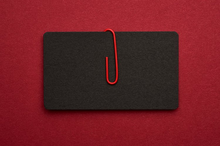 black paper cardboard business card example image 1