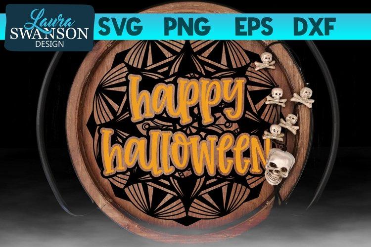 Happy Halloween Mandala SVG Cut File