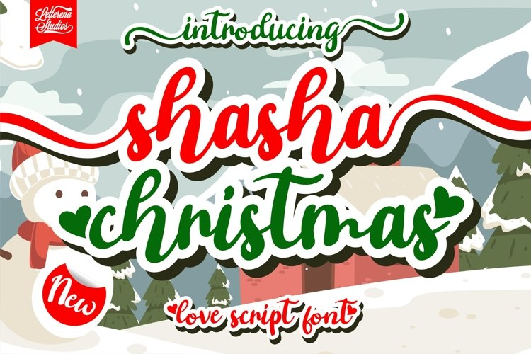 shasha christmas - script love font example image 1