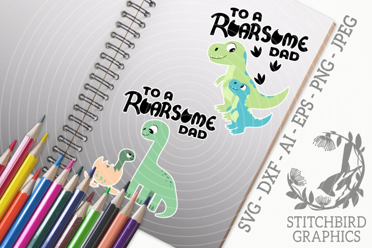Roarsome Dad - Son Bundle SVG, Silhouette Studio, JPEG, PNG example image 1