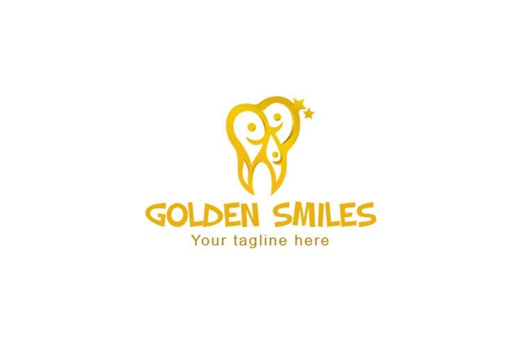Golden Smiles - Dental Care Clinic Stock Logo Template example image 1