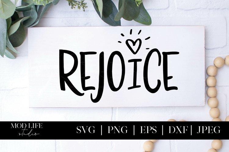 Rejoice SVG Cut File - SVG PNG JPEG DXF EPS