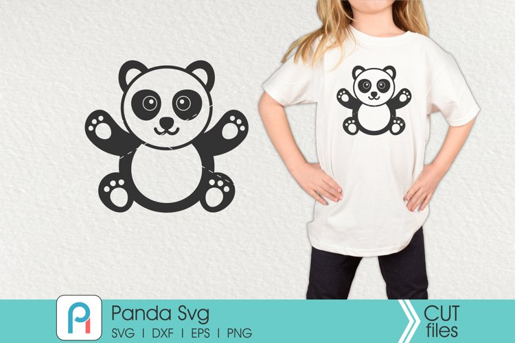Panda Svg, Panda Clip Art, Panda Cut File example image 1