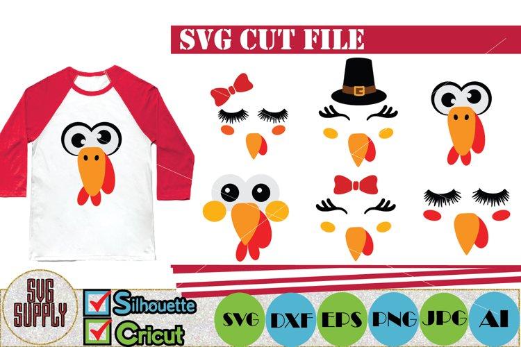 Turkey Face SVG Cut File