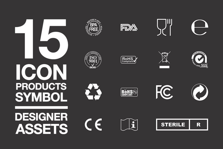 Designer Assets Vol1 Icon/Symbol EPS, PDF, AI