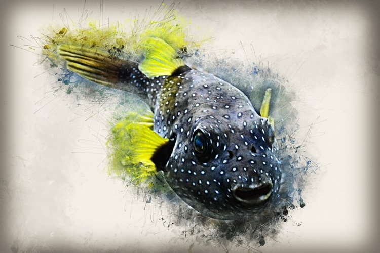 Fish printables in 7 different formats 300 dpi Pack 09 example image 1