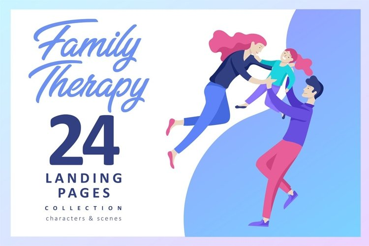 Family. Landing pages & Characters example image 1