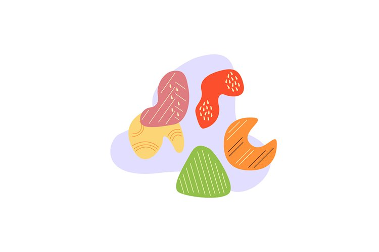 Colorful dried fruits and vegetables concept illustration example image 1