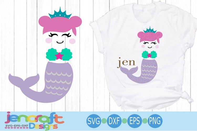 Mermaid girl SVG - Monogram Frames SVG images example image 1