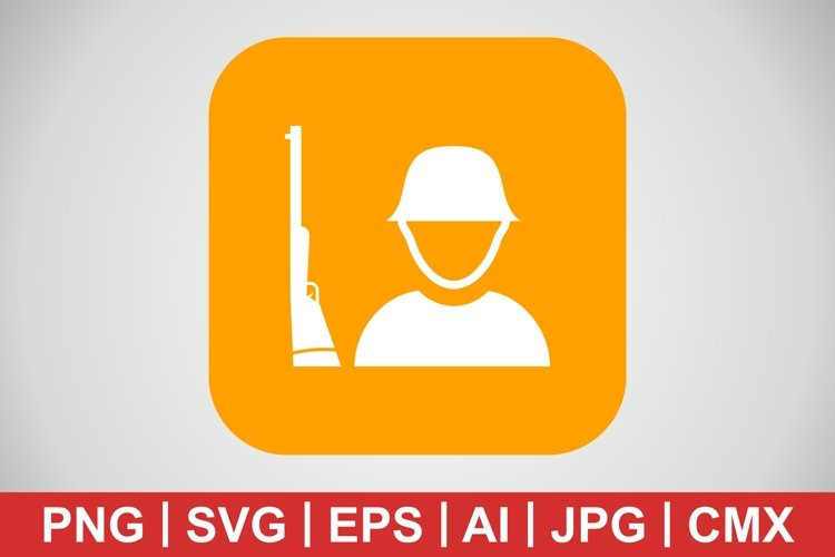 Vector Solider Icon example image 1