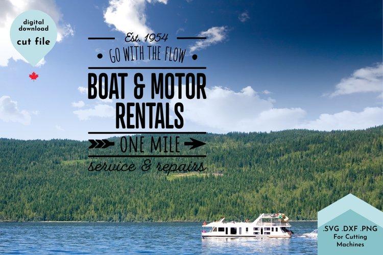 Summer Sign SVG, Lake House, Boating, Vintage Sign example 2