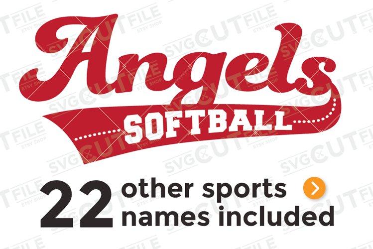 Angels svg, Angel svg, Angels baseball svg, swoosh svg example image 1