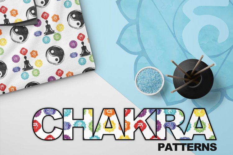 Chakra Symbols - Watercolor Seamless Patterns