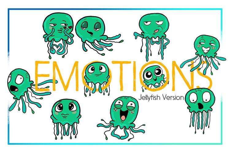 Jellyfish Clipart-Sea Clipart-Nautical Clipart-Cartoon-Sticker Clipart-Digital-Jellyfish-Art-Funny-Digital JellyFish-Sea Creature-Commercial