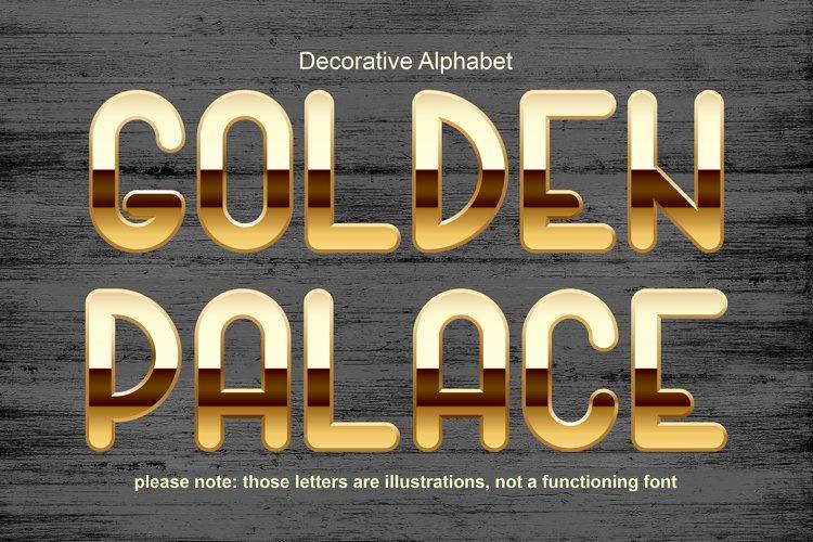 Golden palace - metallic font example image 1