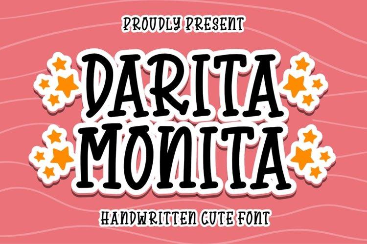 Darita Monita - Quirky Font - Free Font Of The Week Font
