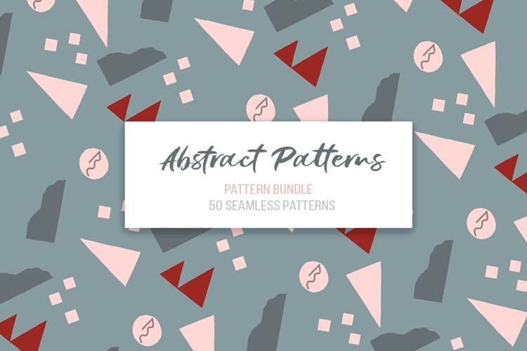 Abstract vector patterns. Big geometric collection, seamless example image 1
