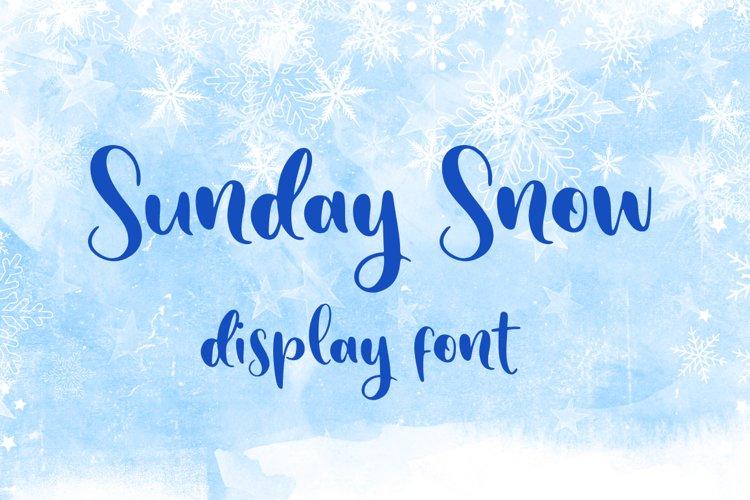 Sunday Snow example image 1