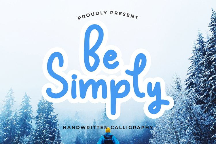 Be Simply Monoline Calligraphy Font example image 1