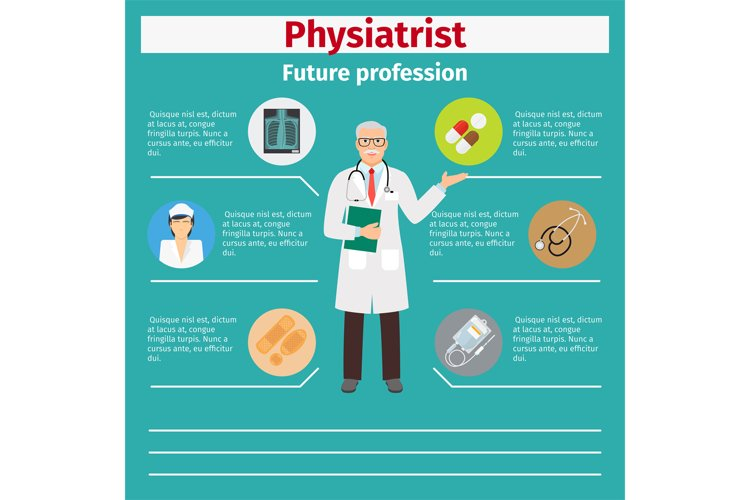 Future profession physiatrist infographic example image 1