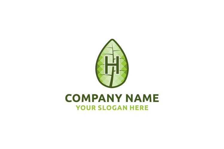 initial logo H leaf healthy Graphics Logos example image 1