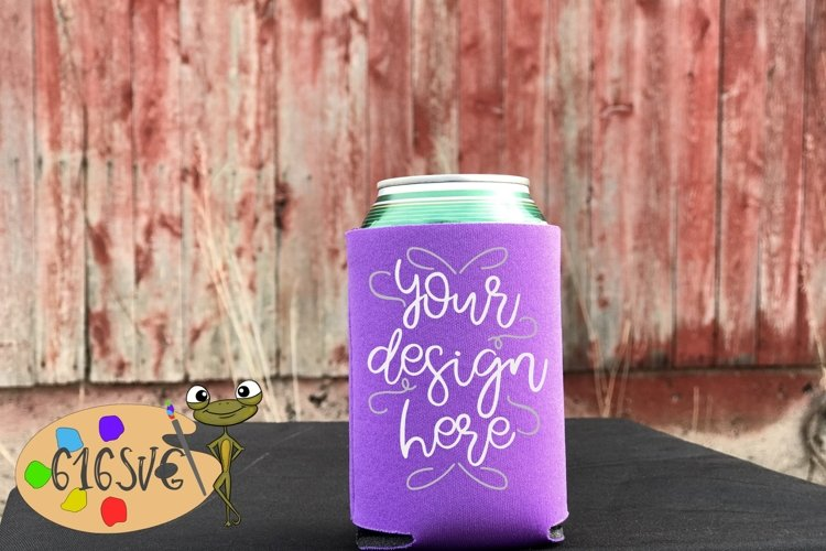Orchid Can Cooler Mockup