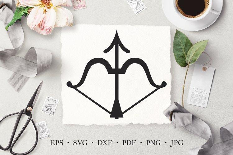 Bow and Arrow Vector Stencil Cut Template Clipart SVG