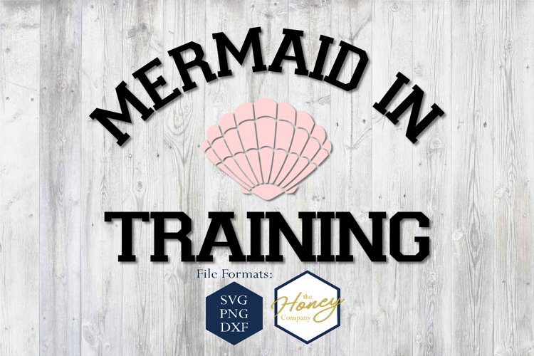 Mermaid in Training SVG PNG DXF Shell Summer Cut File example image 1