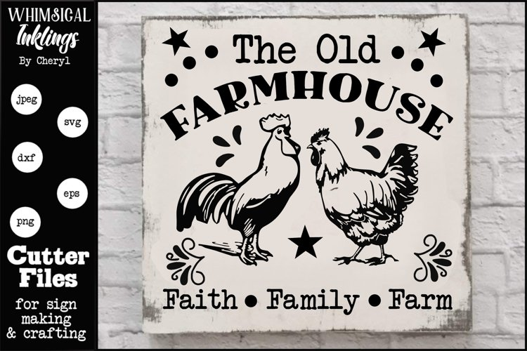 The Old Farmhouse SVG example image 1